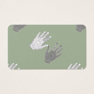 Black and White Friendship Hands Business Card
