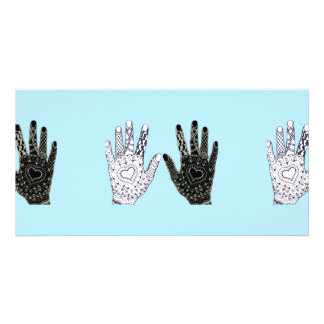 Black and White Friendship Hands Card