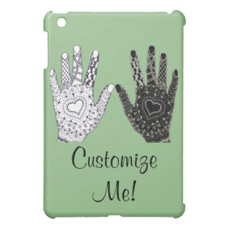 Black and White Friendship Hands Customize Me iPad Mini Covers