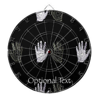 Black and White Friendship Hands Dartboards