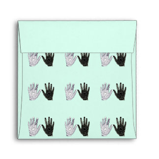 Black and White Friendship Hands Envelope