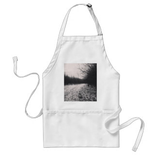 Black and white frozen adult apron