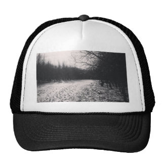 Black and white frozen cap