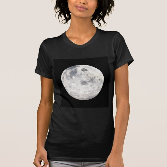 Black and White Full Moon Oil Painting T-Shirt