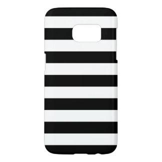 Black and White Galaxy S7 Cases - Nautical Stripe