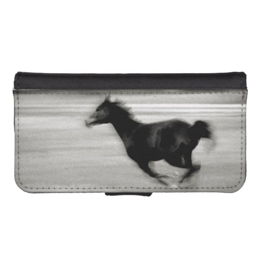 the best attitude 71fc9 430f6 Black and White Galloping Horse iPhone Wallet Case