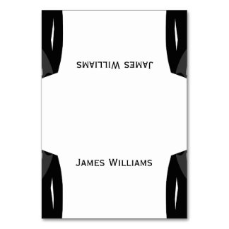 Black And White Gay Wedding Place Setting Cards