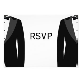 Black And White Gay Wedding RSVP Cards