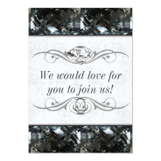 Black and White Gem Card