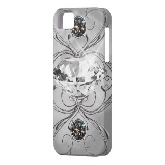 Black and White Gem iPhone 5 Cases