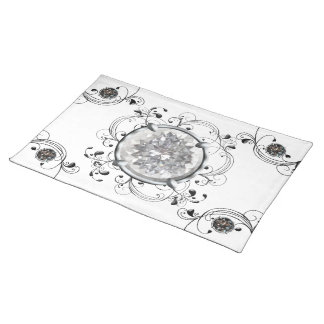 Black and White Gem Placemat