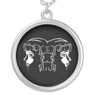 Black and White Gemini Necklace