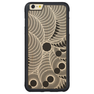 Black and White geometric abstract figure Carved® Maple iPhone 6 Plus Bumper Case