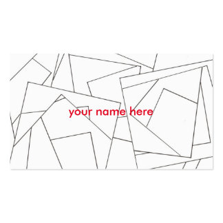 Black And White Geometric - Abstract Ink Drawing Business Card