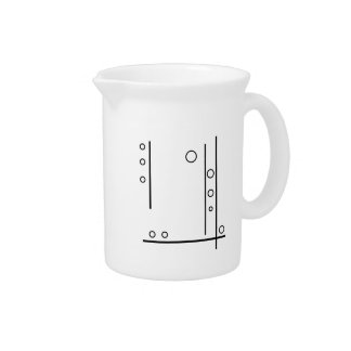 Black and White Geometric Abstract Pitcher