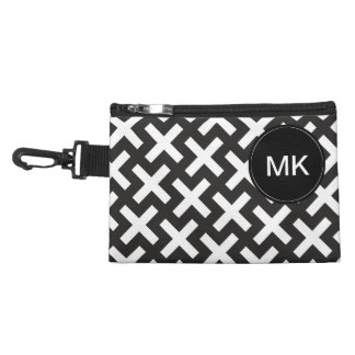 Black and White Geometric Accessory Bags