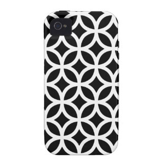 Black and White Geometric Case-Mate iPhone 4 Cases