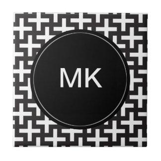 Black and White Geometric Ceramic Tiles