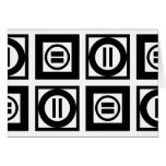 Black and White Geometric Equal Sign Pattern Card