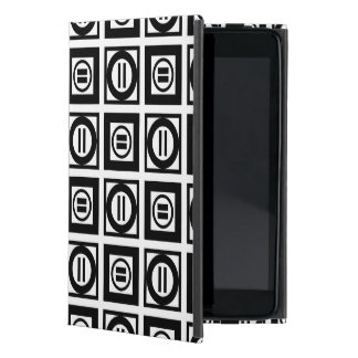Black and White Geometric Equal Sign Pattern iPad Mini Covers