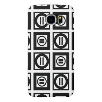 Black and White Geometric Equal Sign Pattern Samsung Galaxy S6 Case