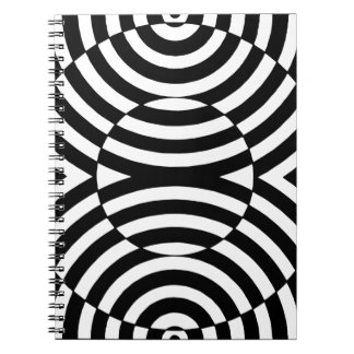 Black and White Geometric Illusion 002 Notebook