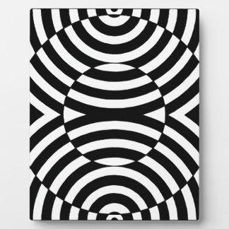 Black and White Geometric Illusion 002 Plaque