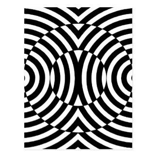 Black and White Geometric Illusion 002 Postcard