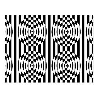 Black and White Geometric Illusion 003 Postcard