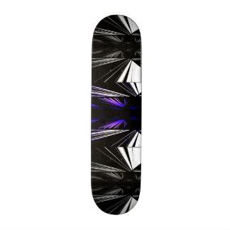 Black and white geometric lines skateboard