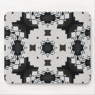 Black and White Geometric Mouse Pad