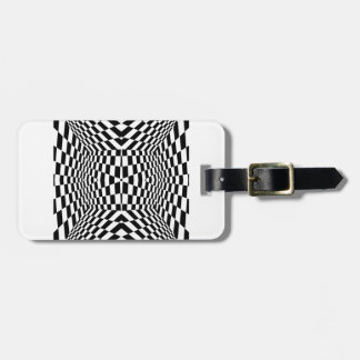 Black and White Geometric Pattern Bag Tag