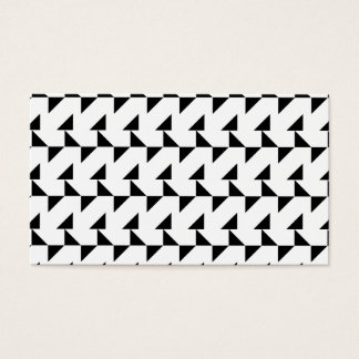 Black and White Geometric Pattern. Business Card