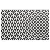 Black and White Geometric Pattern Fabric