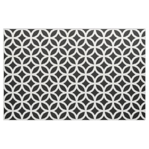 8f4367f20dce1 Black And White Geometric Patterns Fabric | Zazzle