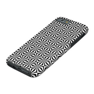 BLACK AND WHITE GEOMETRIC PATTERN iPhone 6 Case