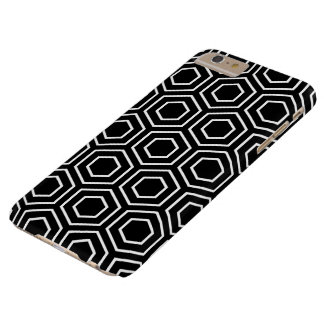 Black and White Geometric Pattern iPhone 6 Plus Ca Barely There iPhone 6 Plus Case