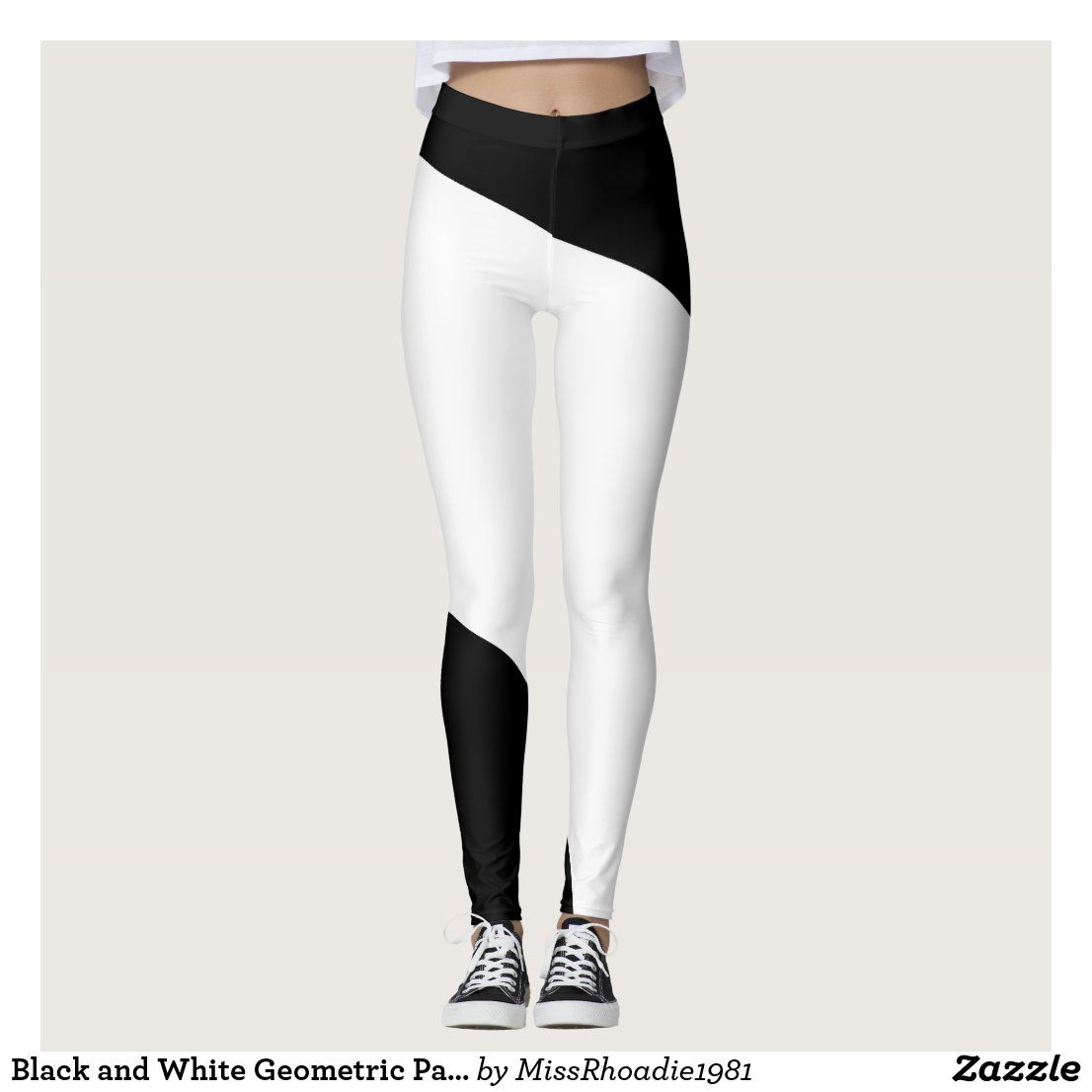 Black and White Geometric Pattern Leggings