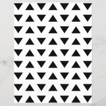 Black and White Geometric Pattern of Triangles.