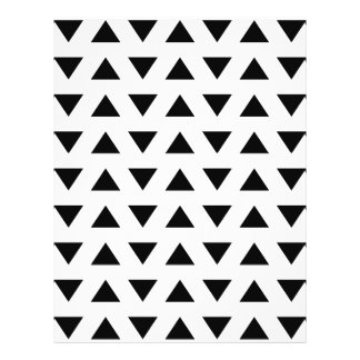 Black and White Geometric Pattern of Triangles. Flyer