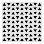 Black and White Geometric Pattern of Triangles. Poster