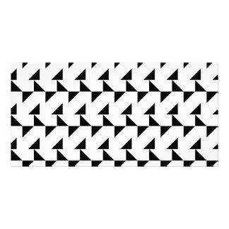 Black and White Geometric Pattern. Photo Card