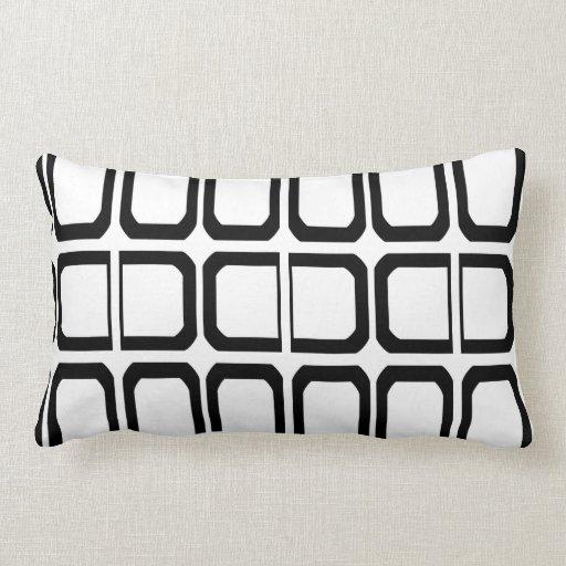 Black and White Geometric Pattern Pillows