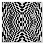 Black and White Geometric Pattern Poster
