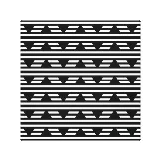 Black and White Geometric Pattern with Stripes. Stretched Canvas Prints