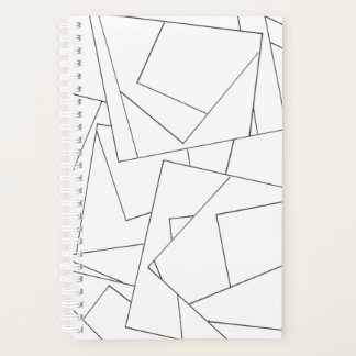Black and White Geometric Planner