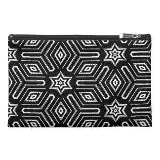 Black and White Geometric Star Pattern Travel Accessories Bags