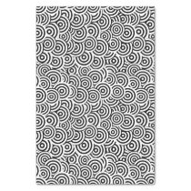 Black and White Geometric Swirl Print Tissue Paper