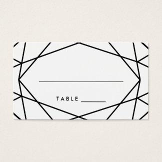 Black and White Geometric Wedding Escort Cards