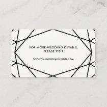 Black and White Geometric Wedding Website Cards